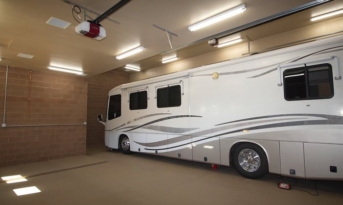 how tall is an rv garage door