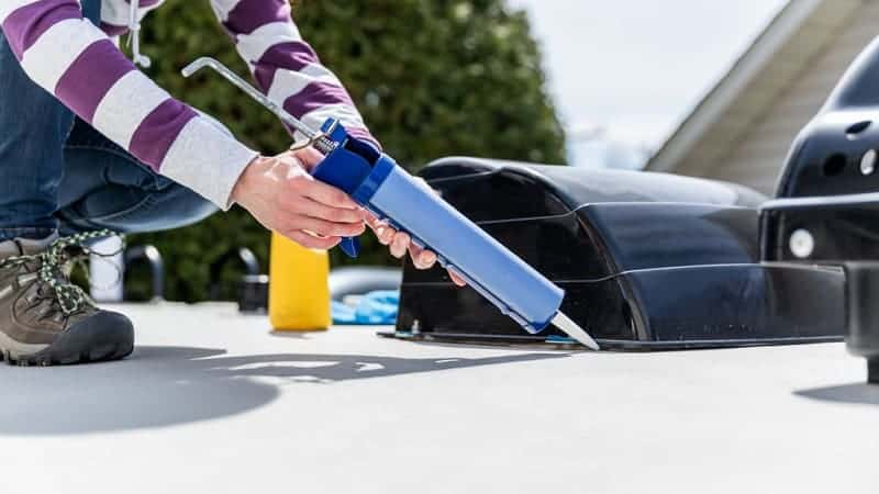 how to repair-rv roof leak