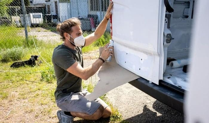 how to paint a camper exterior