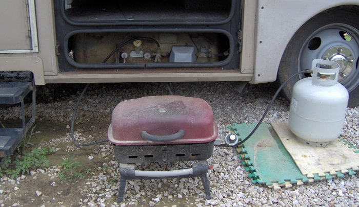 how to connect gas grill to rv