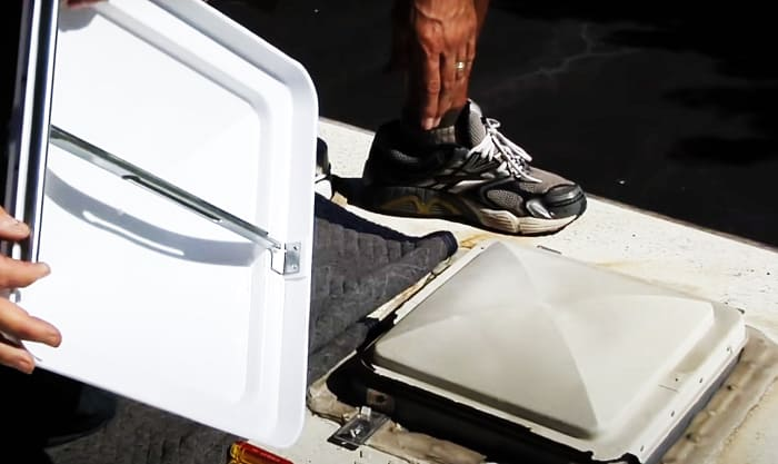 how to replace an rv roof vent cover