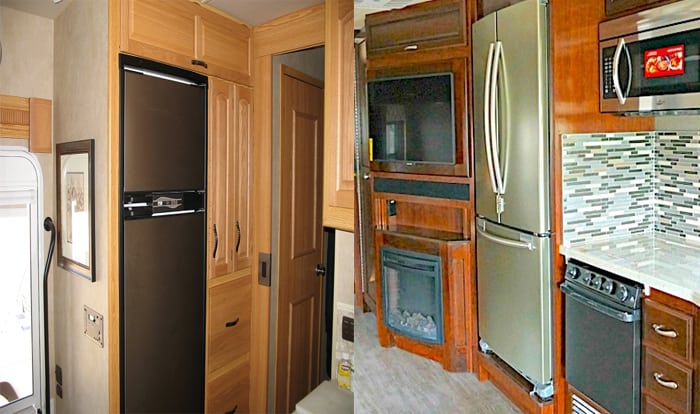 rv fridge vs residential
