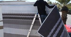 straighten-an-RV-awning-roller-tube